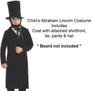 Abraham Lincoln Child costume size small 3-4 years
